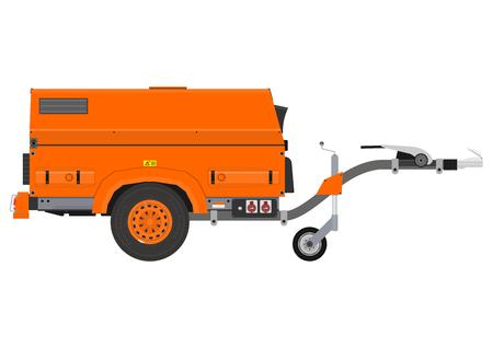 Mobile generator. Side view. Flat vector. Illustration