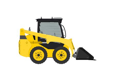 Yellow skid steer loader