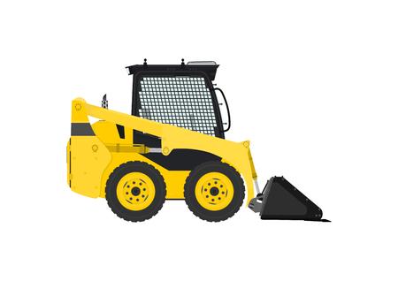 skid: Yellow skid steer loader