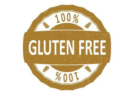 grain: Gluten free. Rubber stamp Flat vector. Illustration
