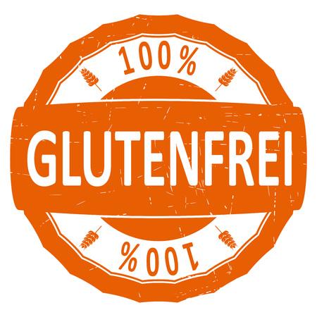 Glutenfrei. Gluten free in German. Vector rubber stamp.