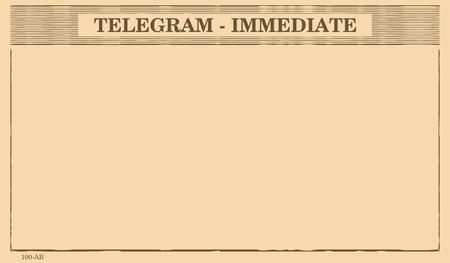 Blank telegram form. Flat vector.