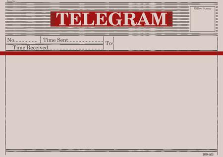 Blanco telegramvorm. Vlakke vector. Stock Illustratie