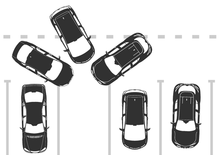 Lack of parking space. Flat vector.