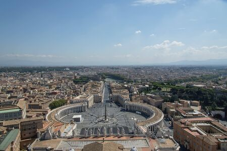 capita: Italy. Rome. Panoramic concept of city. The top view Stock Photo