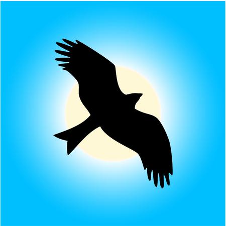 Eagle de la libertad Ilustración de vector