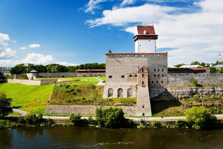herman: View of Narva Castle with tall Herman