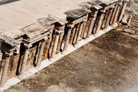 hierapolis: Ancient ruined theatre in Hierapolis in Turkey