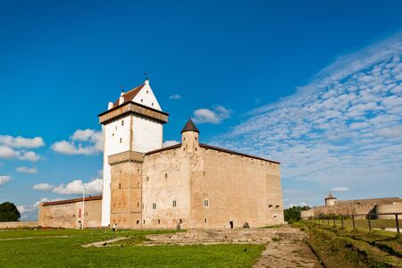 herman: Castle of Herman and Ivangorod fortress on background