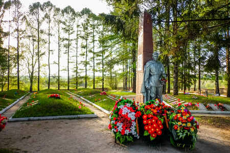 fraternal: Tikhvin fraternal cemetery of soviet soldiers of great Patriotic war