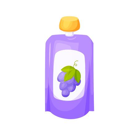 grape juice: Grape juice package.