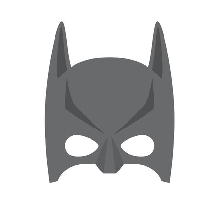 heroic: Super hero black mask. Supperhero mask for face character in flat style. Masks of heroic, savior or superhero. Comic super hero mask vector illustration. Super hero photo props. Super hero face