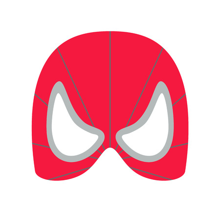 heroic: Super hero red mack. Supperhero mask for face character in flat style. Masks of heroic, savior or superhero. Comic super hero mask vector illustration. Super hero photo props. Super hero face. Spider Illustration