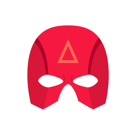 savior: Super hero red mack. Superhero mask for face character in flat style. Masks of heroic, savior or superhero. Comic super hero mask vector illustration. Super hero photo props. Super hero face. Spider