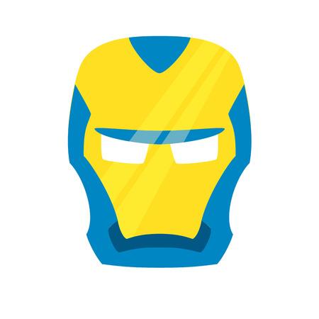 savior: Super hero blue mack. Superhero mask for face character in flat style. Masks of heroic, savior or superhero. Comic super hero mask vector illustration. Super hero photo props. Super hero face. Spider