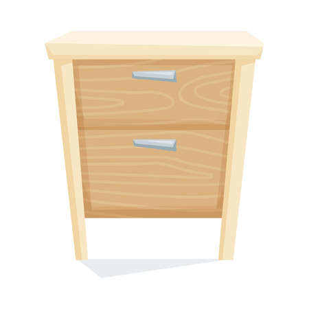 bedside: Bedside table vector illustration. Cartoon cabinet isolated on white