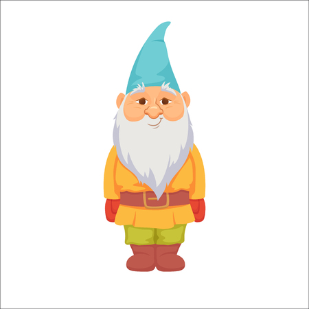 Gnomes. Funny dwarf Illustration
