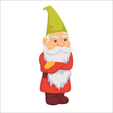 resentful: Gnomes. Angry dwarf. Illustration