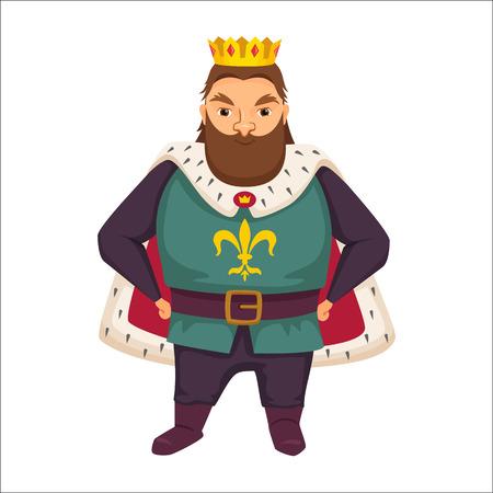 King. Funny monarch. Illustration
