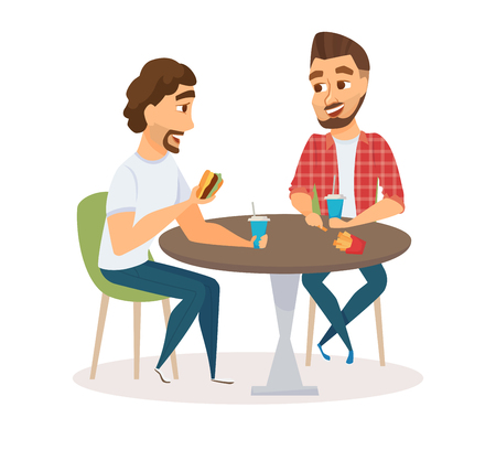 amici maschio mangiare