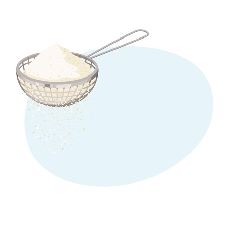 Sieve baking ingredients