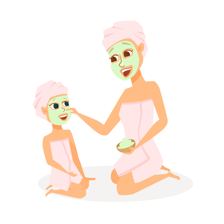 Mother and daughter in spa