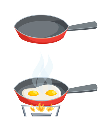 Eggs are fried