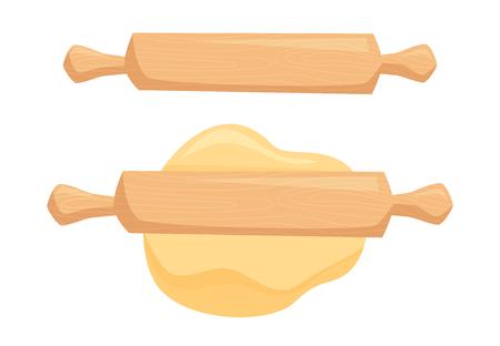 Teig und Nudelholz