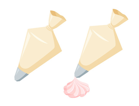 Pastry bag with cream Illusztráció