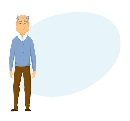 clipart wrinkles: Sad old man