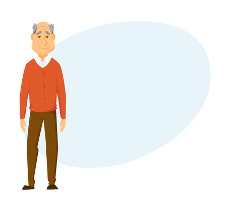 mature adult: Happy old man