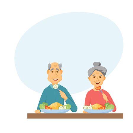 pareja comiendo: Viejo, pareja, comer