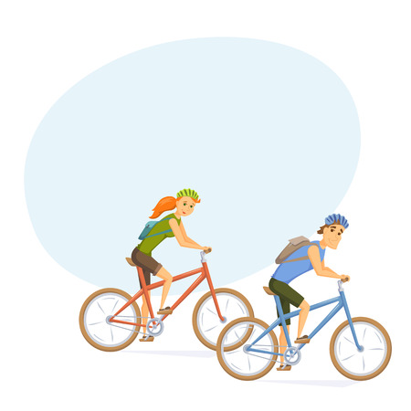 Cyclist on mountain bike Illustration