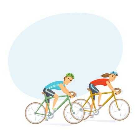 Radfahrer auf Rennrädern Vektorgrafik