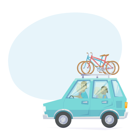 mounted: Car with bicycle