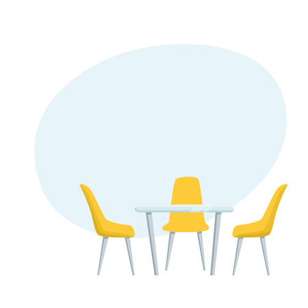 Modern table and chairs Illustration