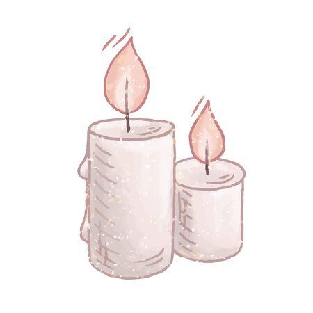 Vecteur de dessin animé bougies brûlant Vecteurs