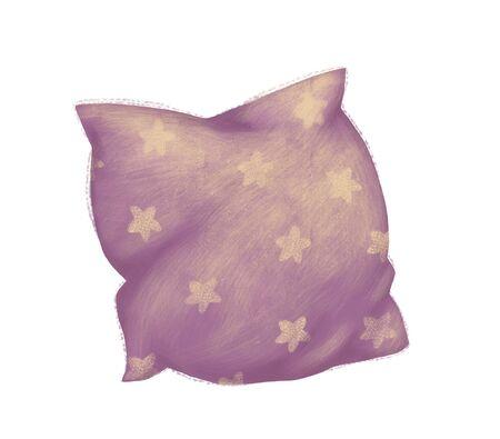 Pillow with star Archivio Fotografico - 95688746