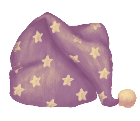 Sleeping hat hand drawn colored illustration
