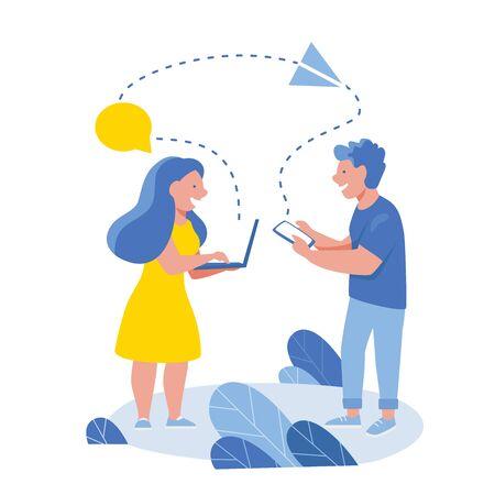 Business people communication via Internet, social media, networking. Group of businessmen hold mobile meeting. 版權商用圖片 - 131978830