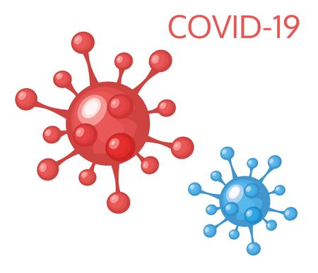 Vector of Coronavirus 2019-nCoV and Virus background with disease cells.