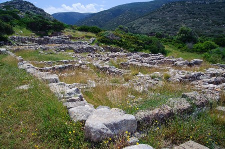 Ruins of Gournia are over 3000 years old. They give an idea how Minoan people lived although not much is left. Ruins are located in Crete, Greece. photo