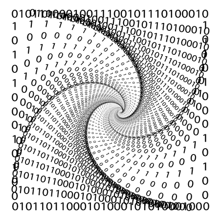 World of numbers, numerical spiral, abstraction of prime numbers, vector mathematical spiral Stock Vector - 105064326