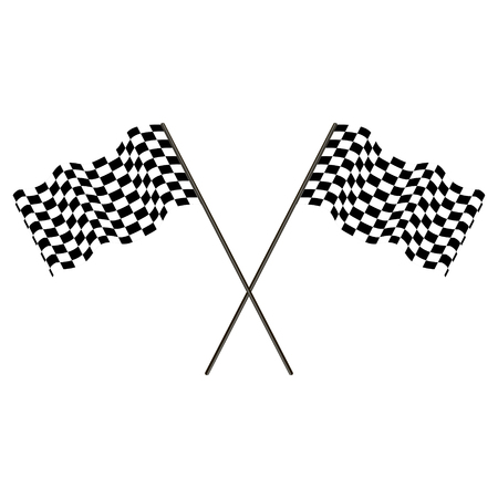 racing flag of the winner developing in the wind, finish signal, vector