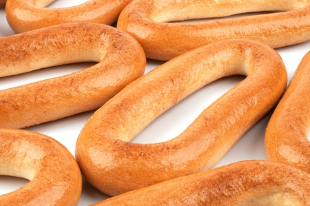 Placer oval bagels closeup photo Stock Photo - 16067484
