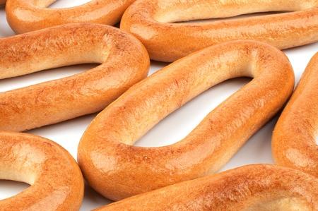 bublik: Placer oval bagels closeup photo