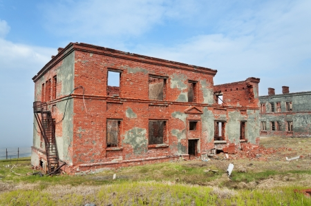 Completely destroyed a two-story brick building Stock Photo - 18153540