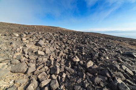 Stone desert under blue sky