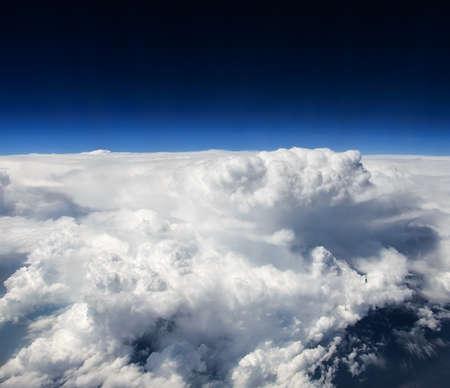 thundercloud: Temporale Vista dal velivolo Archivio Fotografico