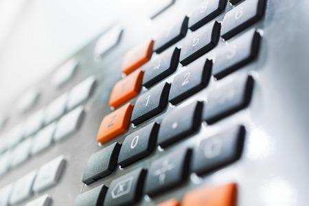 teclado num�rico: Numeric keypad CNC machine control panel. Shallow depth of field.